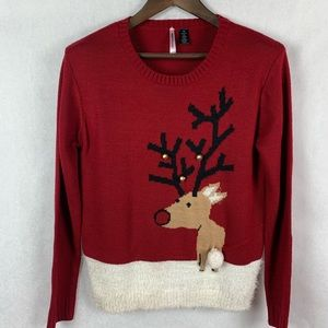 Love by Design Ugly Rudolf Christmas Sweater M